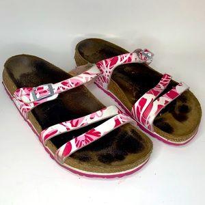 Birki's Sz 39 Pink/White Sandals
